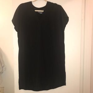 Vince 100% Silk Black Shift Dress Small